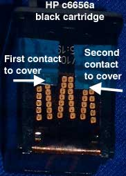 Reset ink levels on HP C6656 - C6657 - C6658 inkjet cartridges